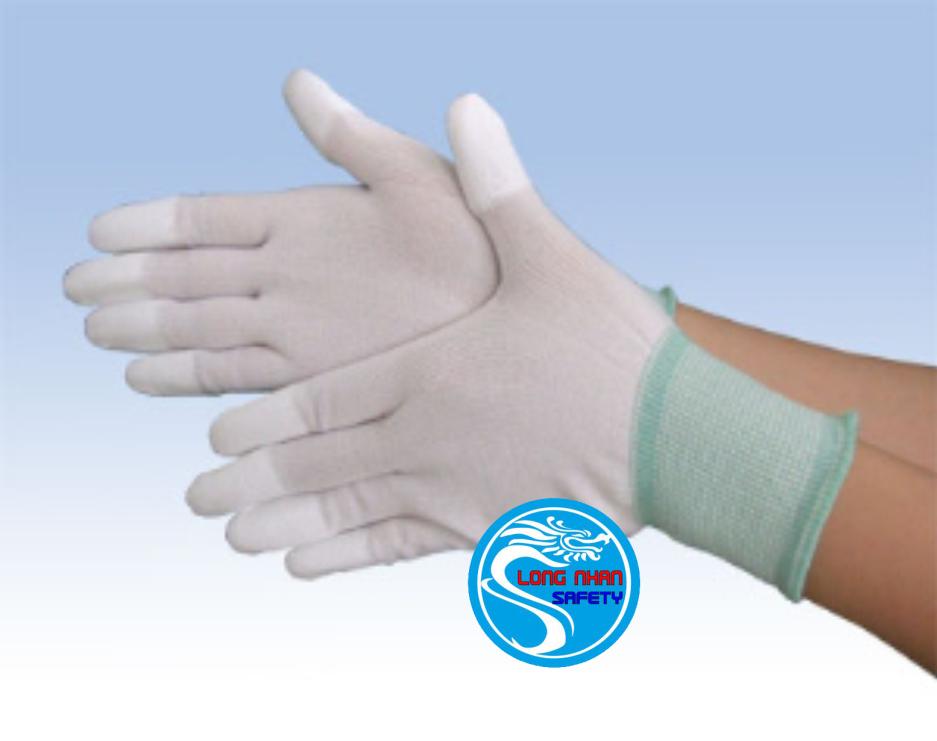 Găng tay trắng phủ ngón